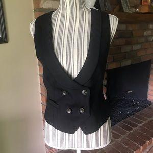 Rag & Bone Black Wool Blend Women's Vest Sz 6